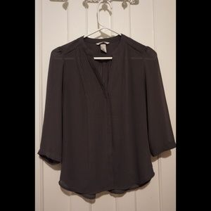 Gray H&M Button up Blouse